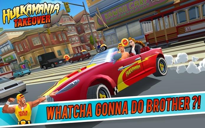 O icônico Hulk Hogan virou um personagem de Crazi Taxi (Foto: Divulgação)