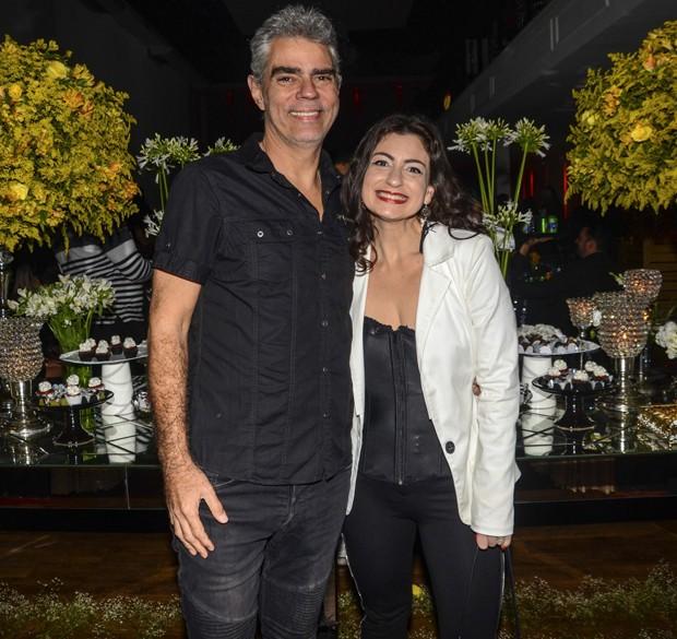 Nizo Neto e Tatiana Presser (Foto: Eduardo Martins/AgNews)