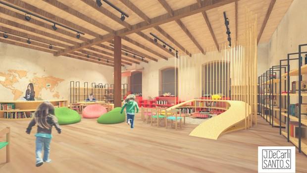Biblioteca infantil conta com mais de 5 mil livros no acervo (Foto: Divulgação)