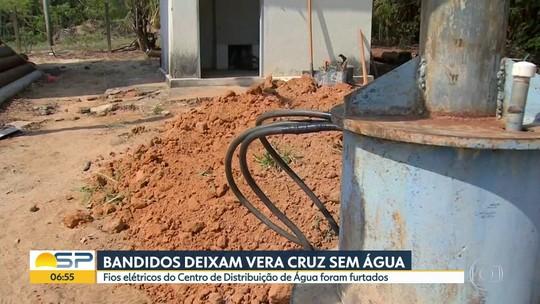 Bandidos roubam fios e deixam Vera Cruz sem água