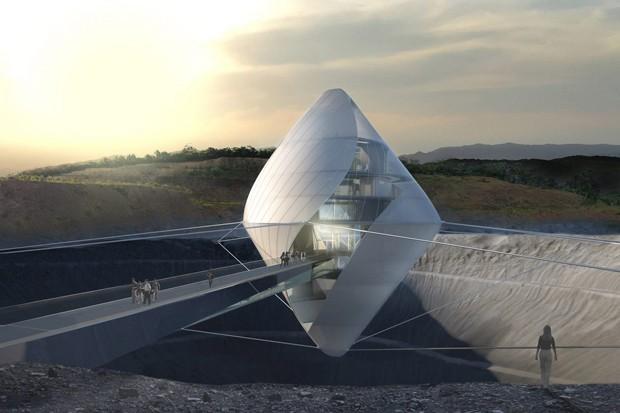 Novo centro de pesquisa espacial japonês simula paisagem lunar (Foto: Divulgação)