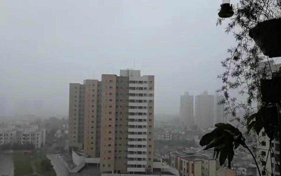 Chuvas devem chegar nas próximas horas em Sergipe — Foto: Reginaldo Rodrigues/TV Sergipe
