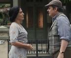 Gloria Pires e Cassio Gabus Mendes em cena como Lola e Afonso em 'Éramos seis' | TV Globo