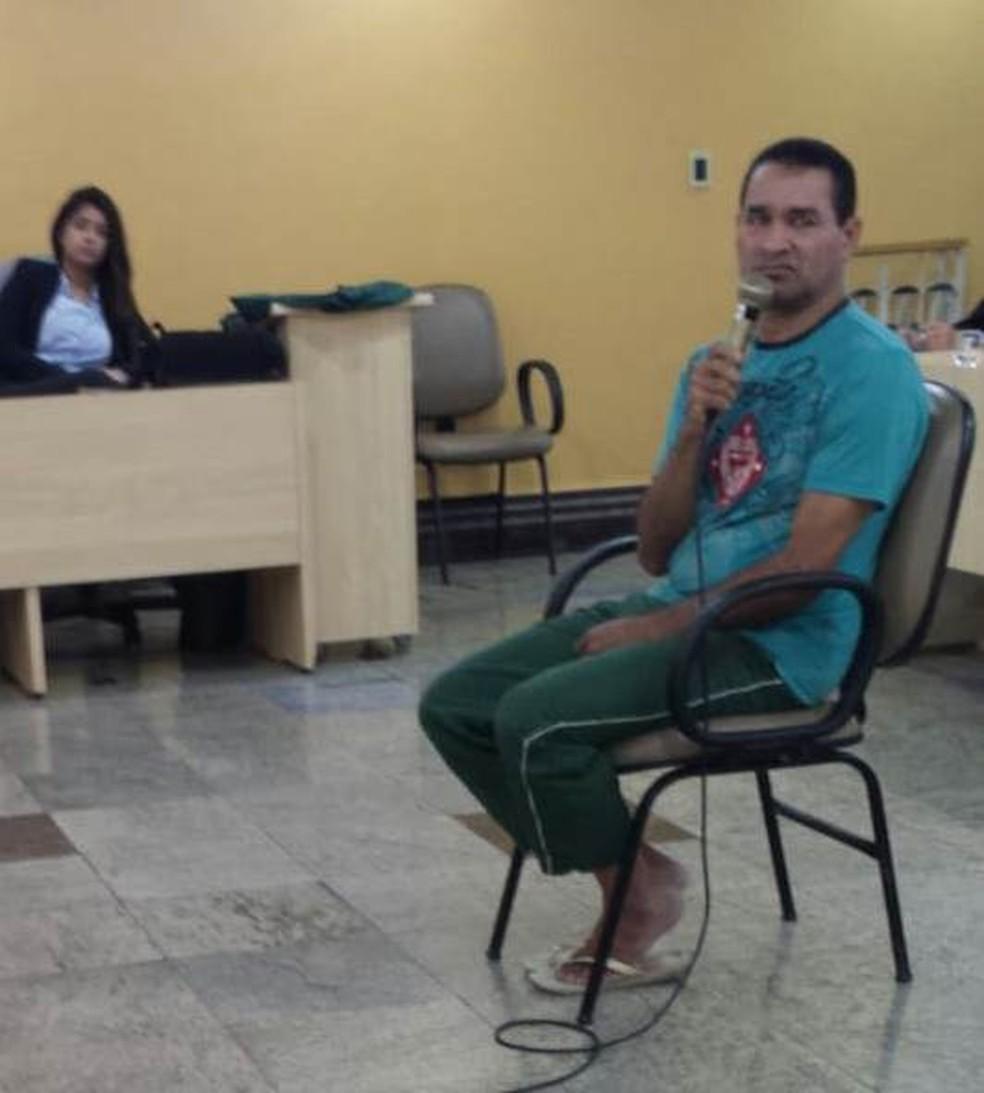 -  Homem é condenado pela Justiça do Pará por matar a própria irmã com 20 facadas em Belém.  Foto: Reprodução / Tribunal de Justiça do Pará