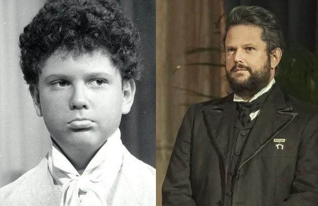 Selton Mello também começou a trabalhar cedo. Sua primeira novela na Globo foi 'Corpo a corpo', aos 12 anos. Atualmente, está no ar em 'Nos tempos do Imperador' (Foto: Reprodução)