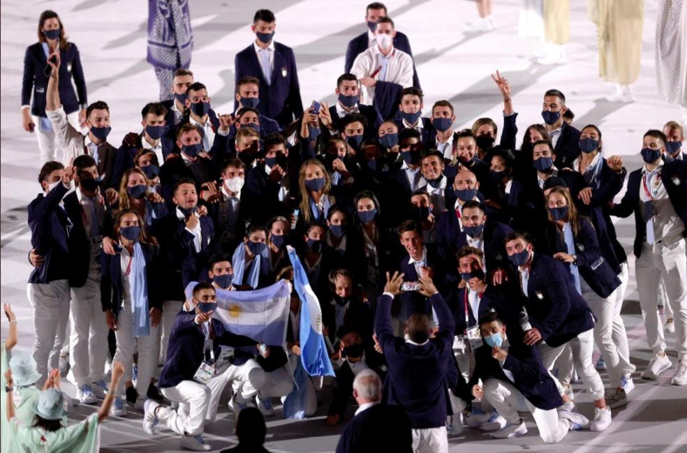 Delegação da Argentina — Foto: @olympics