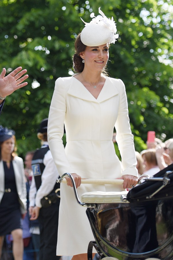 Kate Middleton no batizado da filha, a Princesa Charlotte, em 2015 (Foto: Getty Images)