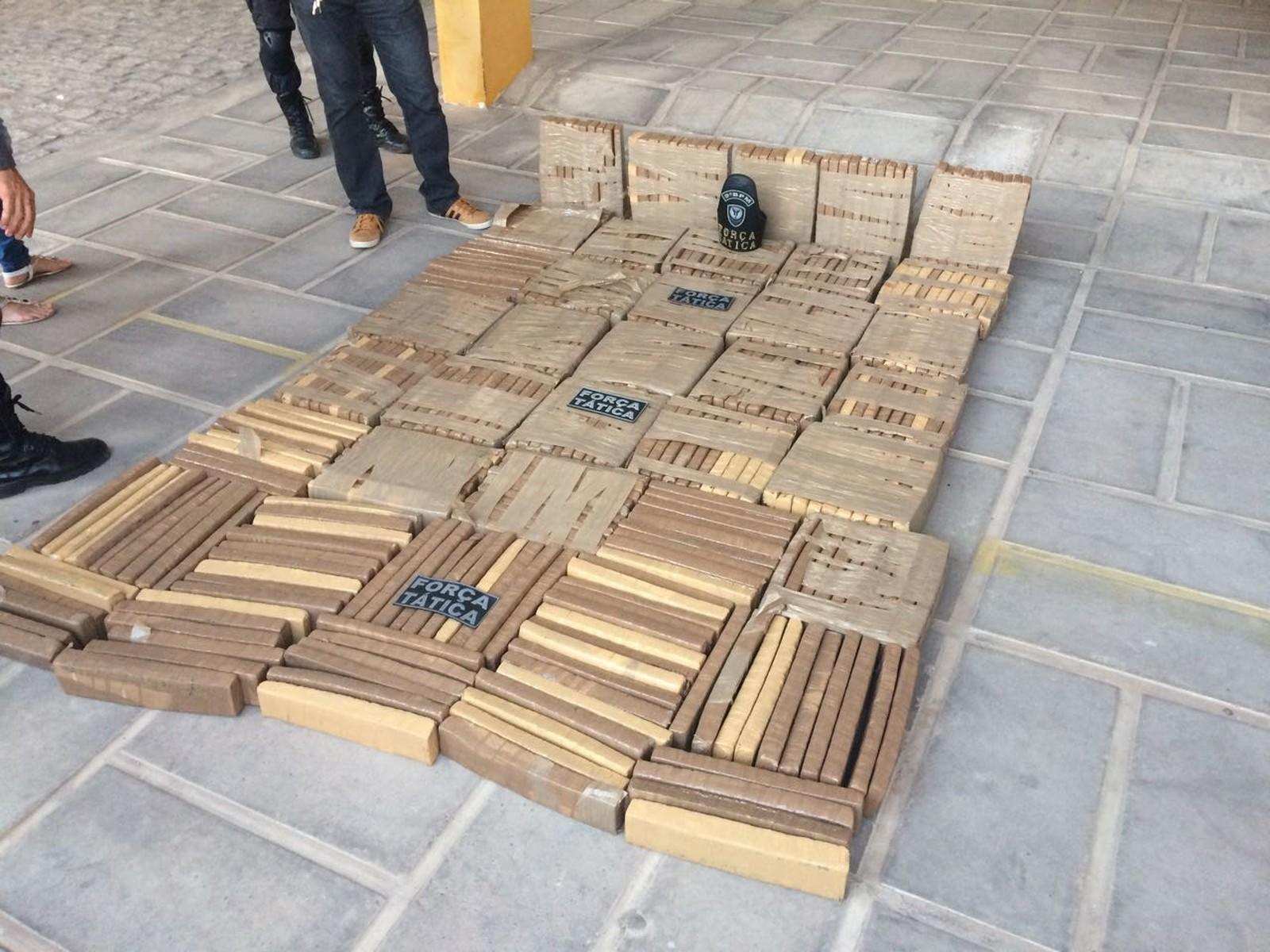 PM: Polícia apreende 377 quilos de maconha na Zona Oeste de Natal