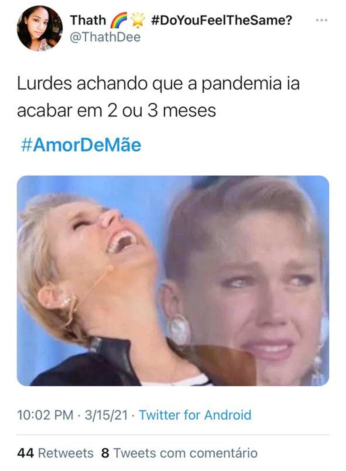 Volta de Amor de Mãe com capítulos inéditos gera memes (Foto: Reprodução)