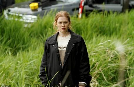 Mireille Enos, de 'The killing', gravou o piloto da série grávida do primeiro filho em 2010. E precisou esconder a segunda gravidez na quarta temporada Reprodução da internet