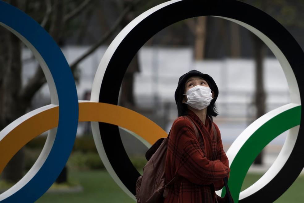 Olimpíadas ainda estão ameaçadas pela pandemia do coronavírus — Foto: Tomohiro Ohsumi/Getty Images