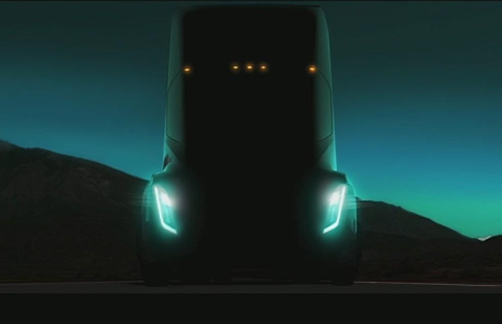 Caminhão elétrico da Tesla até agora não foi revelado (Foto: Reprodução/TED)