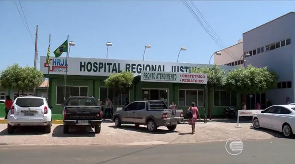 Hospital Justino Luz em Picos (Foto: Reprodução/Tv Clube)