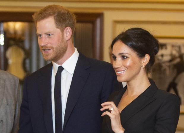 Meghan Markle exibiu as pernas em evento com o príncipe Harry (Foto: Getty Images)