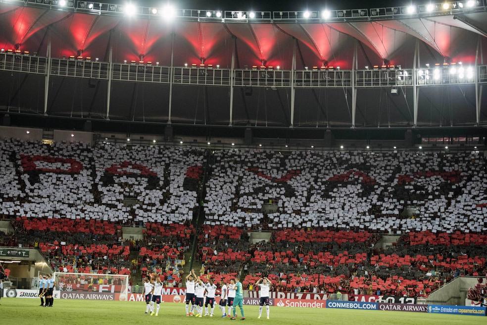 Moisaido da torcida do Flamengo diante da LDU — Foto: DELMIRO JUNIOR/AGÊNCIA O DIA/ESTADÃO CONTEÚDO