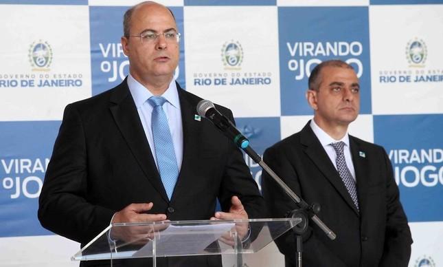 Wilson Witzel e Edmar Santos