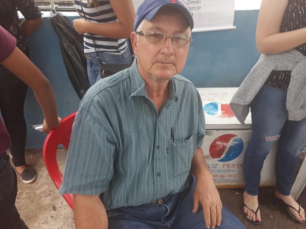 Candidato faz o Enem em Cuiabá neste domingo (4) no primeiro dia de prova — Foto: Flávia Borges/ G1