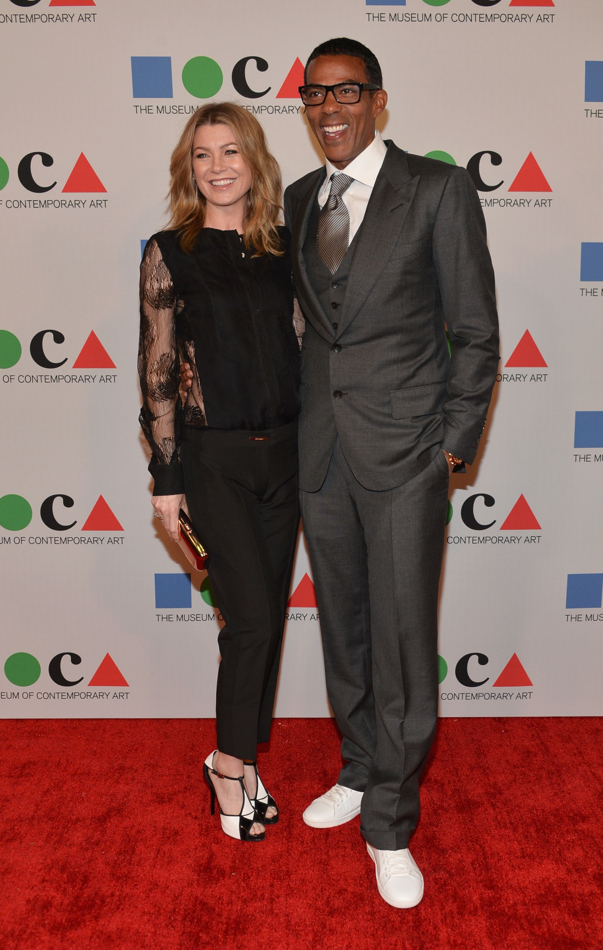 Chris Ivery e Ellen Pompeo (Foto: Getty Images)