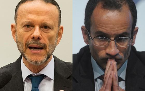 Luciano Coutinho e Marcelo Odebrecht  (Foto: Agência Brasil e Heuler Andrey/AFP)