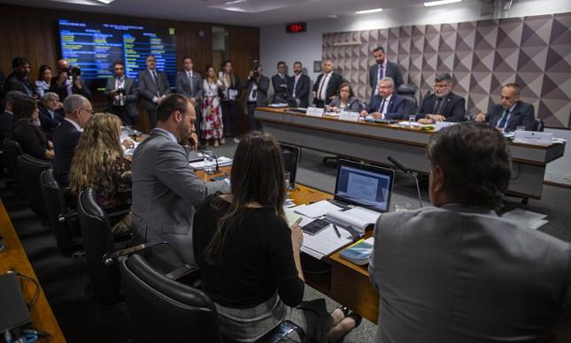 Sessão da CPMI das Fake News no Congresso