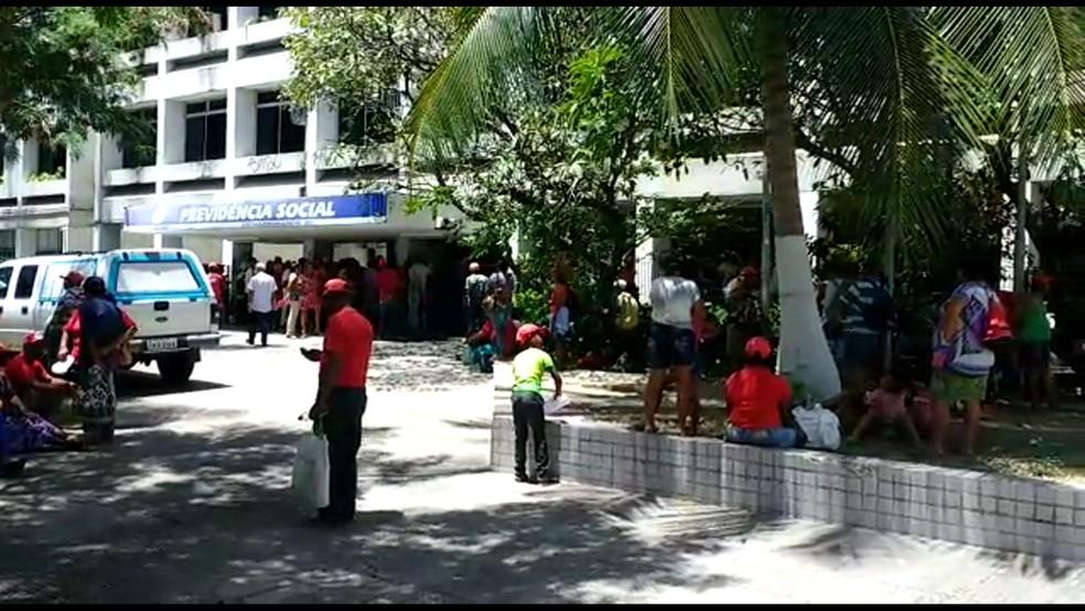 Agência Unica@ do INSS fica na área central do Recife (Foto: Reprodução/WhatsApp)