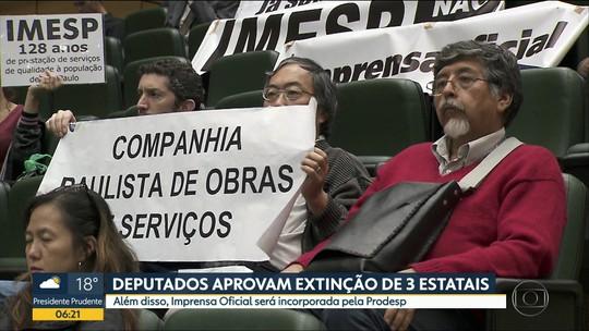 Assembleia Legislativa de SP aprova projeto de Doria para extinção de estatais