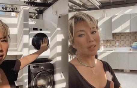 A lavanderia da casa já está praticamente pronta  Reprodução