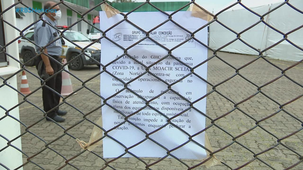 Porto Alegre tem mais um dia de postos e unidades de saúde lotados devido à Covid-19
