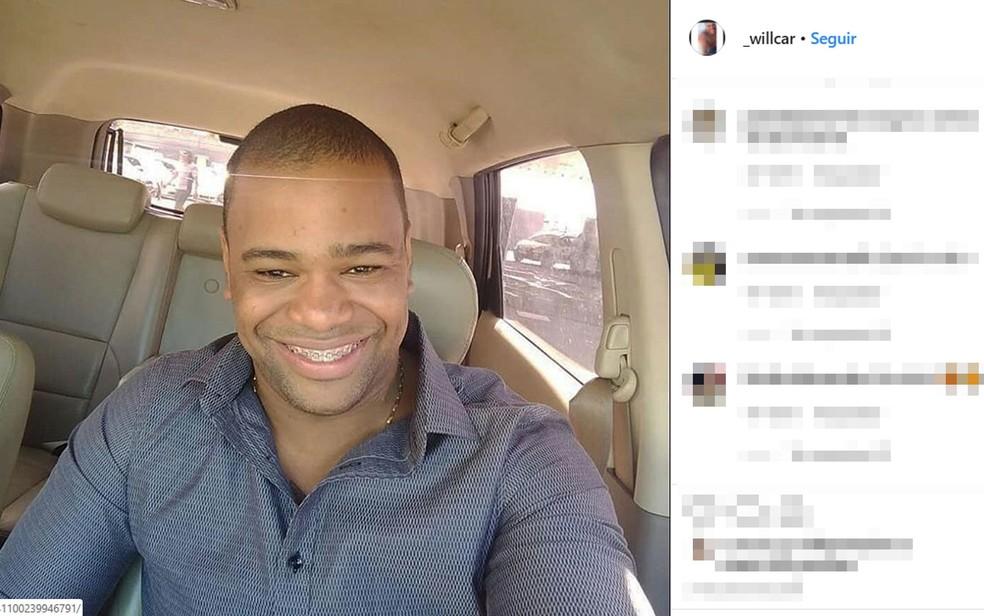 William Oliveira foi baleado pelo influencer Iuri Sheik, ficou internado por dois dias, mas não resistiu e morreu na Bahia — Foto: Reprodução/Instagram