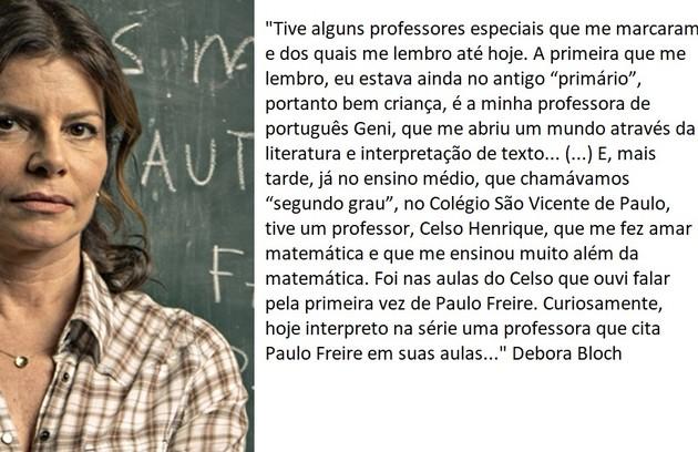 Debora Bloch volta a interpretar a professora Lúcia  (Foto: TV Globo)