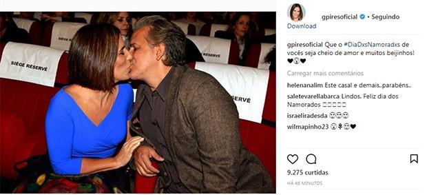 Gloria Pires e Orlando Morais (Foto: Reprodução/ Instagram)