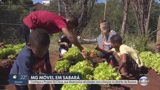 MG Móvel conhece projeto Sá Chica no distrito de Ravena, em Sabará
