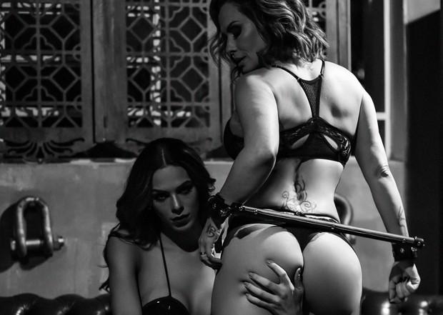 Nubia Oliiver e modelo trans Melissa Paixão (Foto: Haruo Kaneko/Divulgação)