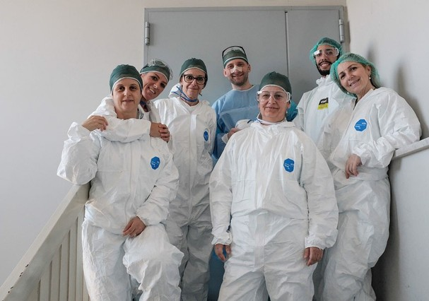 Fotógrafo registra a realidade dentro dos hospitais italianos (Foto: Paolo Miranda / @paolomiranda86)