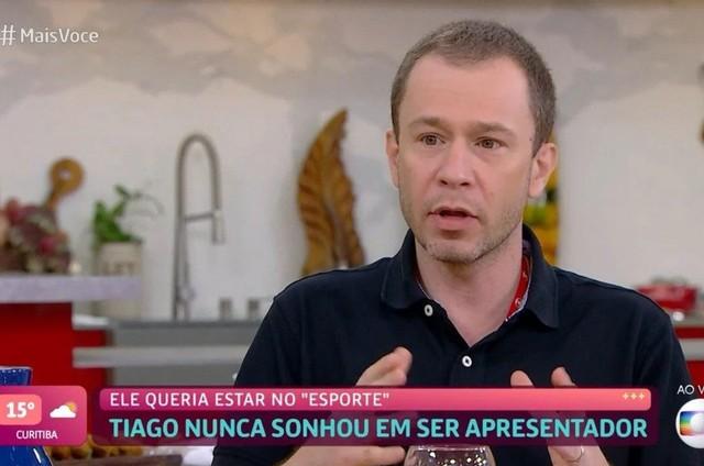 Tiago Leifert no 'Mais você' (Foto: Reprodução)