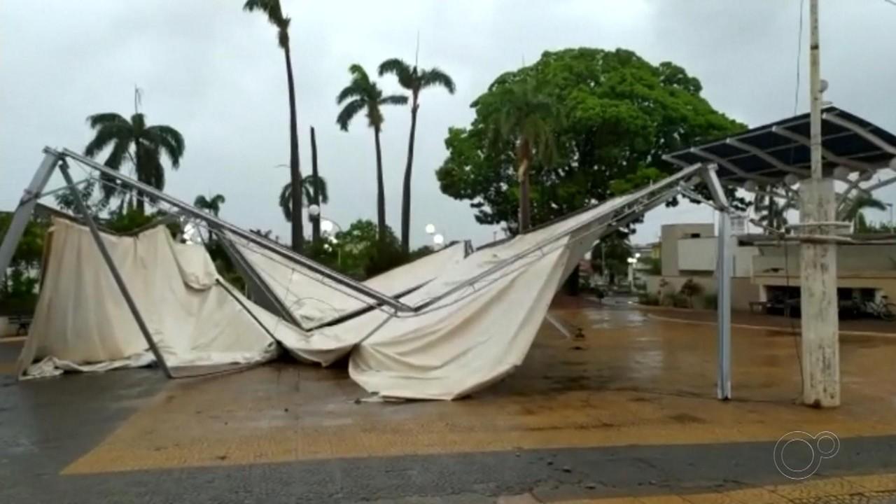 Vendaval causa estragos em cidades da região noroeste paulista