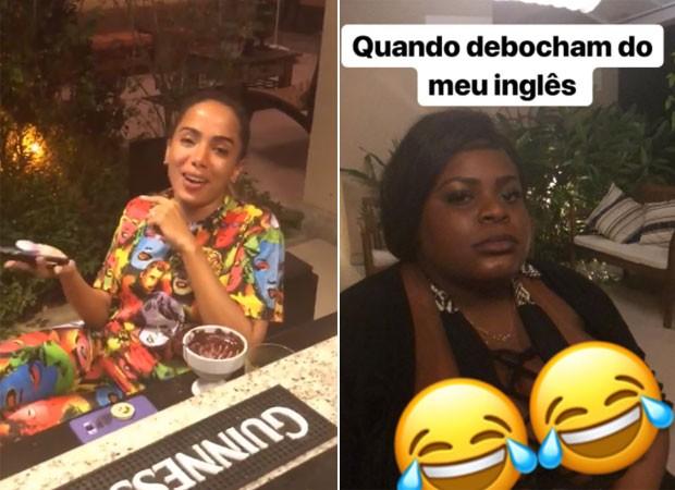 Anitta se diverte com conversa em inglês entre Jojo Todynho e gringo  (Foto: Reprodução)
