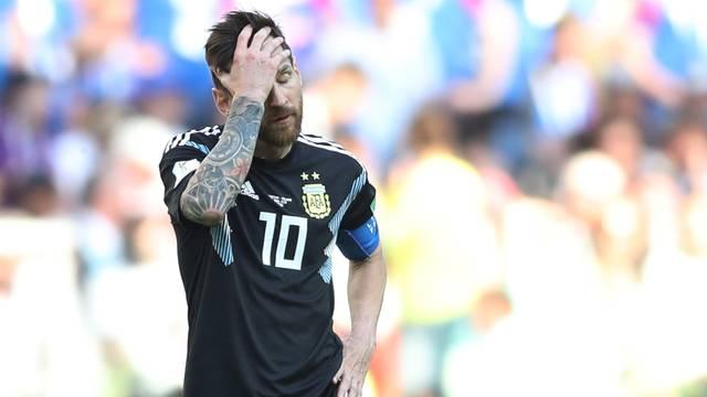 Messi em Argentina x Islândia