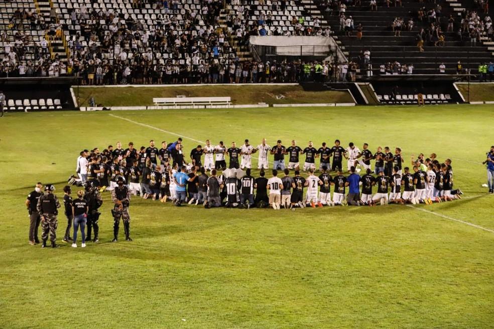 Após acesso, ABC faz semifinais contra a Aparecidense — Foto: Alexandre Lago