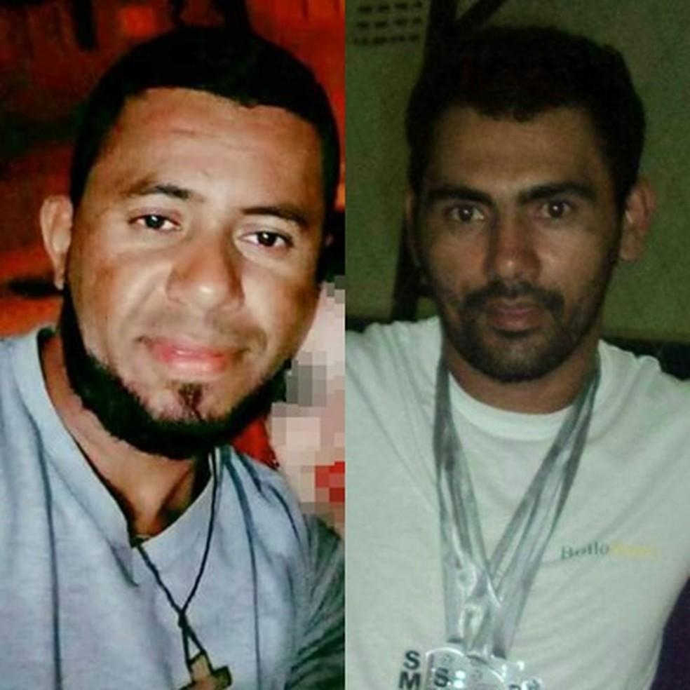 Jonas Eleoterio e João Adelino foram atingidos pelo desmoronamento da mina em Bodó (Foto: Divulgação/Facebook)