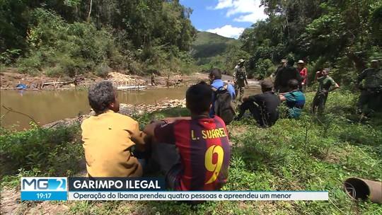 Garimpeiros são detidos em operação contra extração ilegal em Mariana, em MG