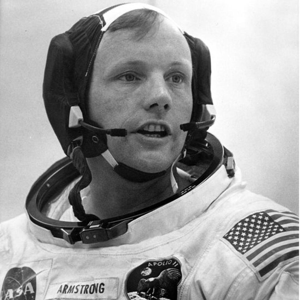 Armstrong foi o primeiro homem a pisar na Lua (Foto: AFP)