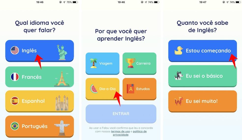 Falou pode ser usado para aprender inglês com diversos objetivos — Foto: Reprodução/Rodrigo Fernandes