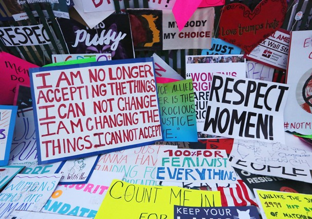 Marcha das Mulheres, em 21 de janeiro de 2017 (Foto: Getty Images)