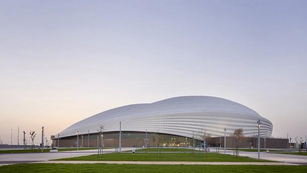 O Estádio Al Janoub fica na cidade Al Wakrah, próxima a capital de Doha, em Catar (Foto: Hufton + Crow )