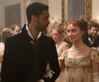 Simon Basset (Regé-Jean Page) e Daphne Bridgerton (Phoebe Dynevor) em 'Bridgerton' | Liam Daniel/Netflix