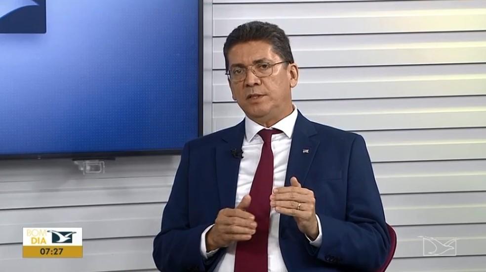 Secretário de Segurança Pública do Maranhão, Jefferson Portela — Foto: Reprodução / TV Mirante