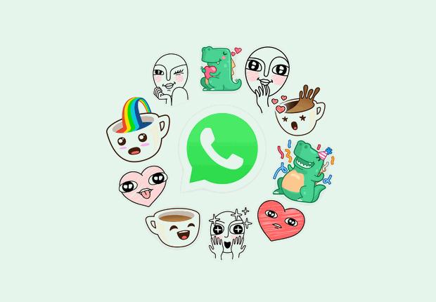 Exemplos de figurinhas que serão disponibilizadas para os usuários do WhatsApp (Foto: Divulgação)