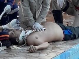 Homem escorrega em tobogã, bate a cabeça e sofre traumatismo (Reprodução)