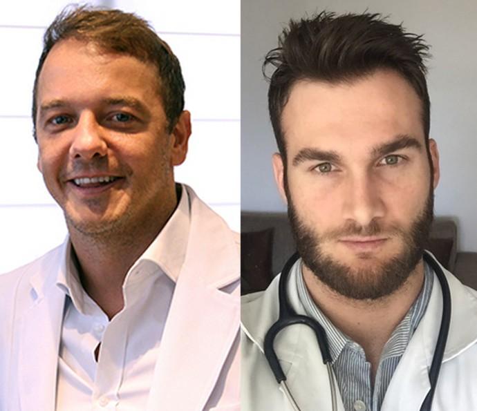 Relembre os doutores Rogério Padovan (BBB5) e Wesley Schunk (BBB11) (Foto: Arquivo Pessoal)